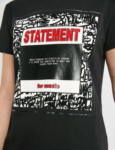 T-shirt z przekazem z bawełny ekologicznej