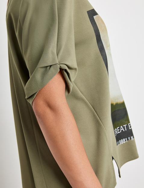 Shirt mit Chiffon-Einsatz im Rücken