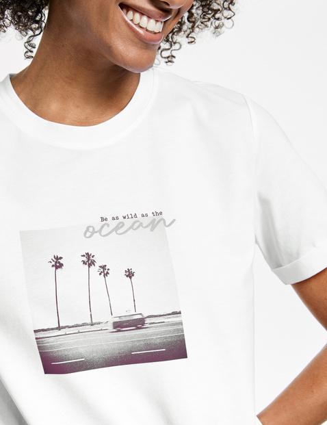 T-shirt met print op de voorkant van GOTS-gecertificeerd biologisch katoen