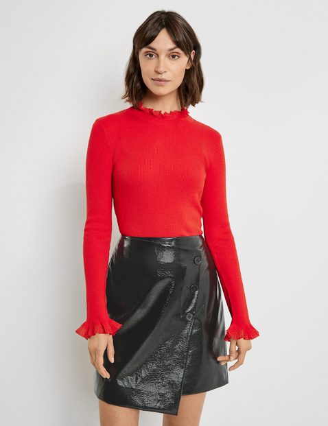 Jumper with frills