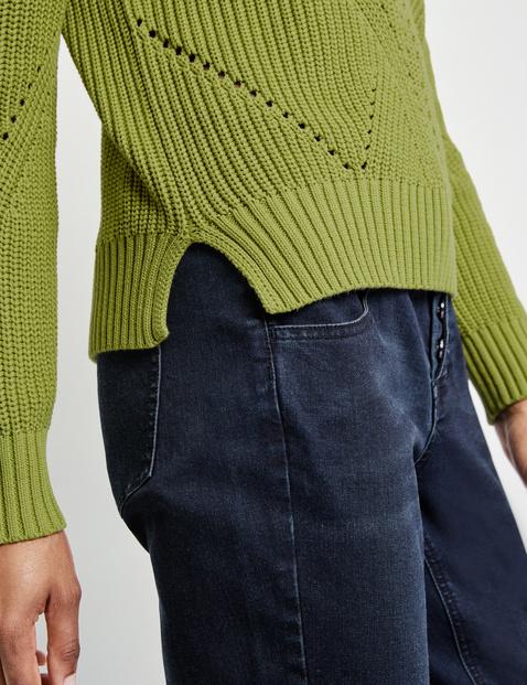 Sweter z golfem z bawełny certyfikatem GOTS