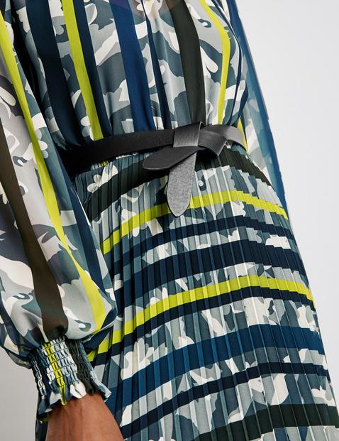 Pleated dress in a midi length