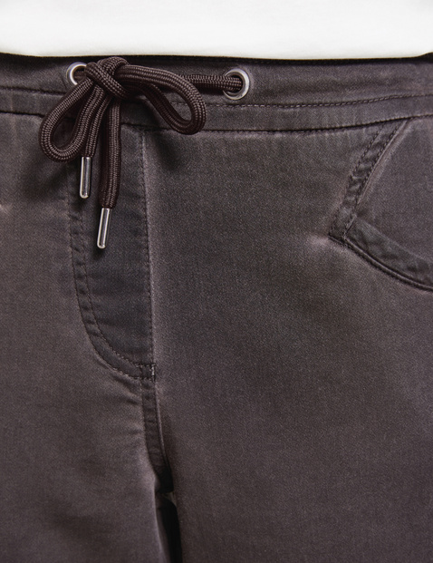 7/8-length trousers with a cold dye effect, Lounge Trousers TS