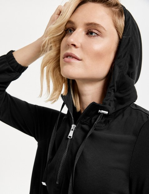 Hoodie with a zip