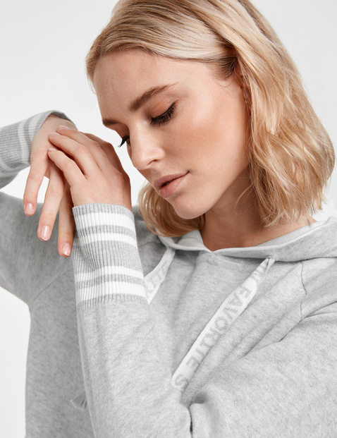 Double-faced knit hoodie
