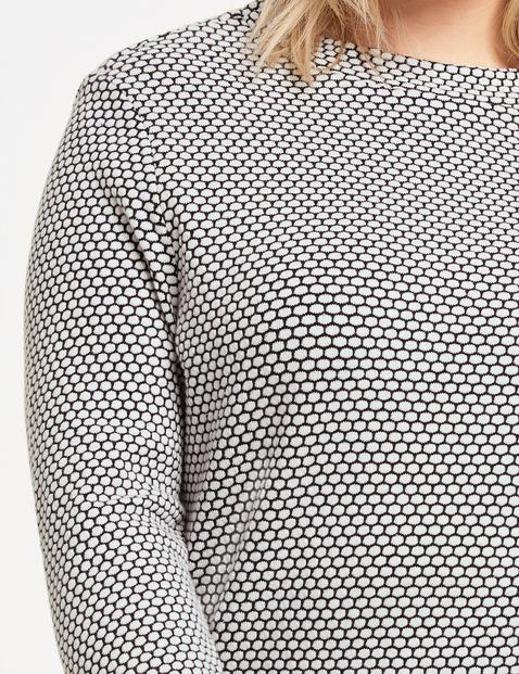 Bluzka z długim rękawem z fakturowanym wzorem