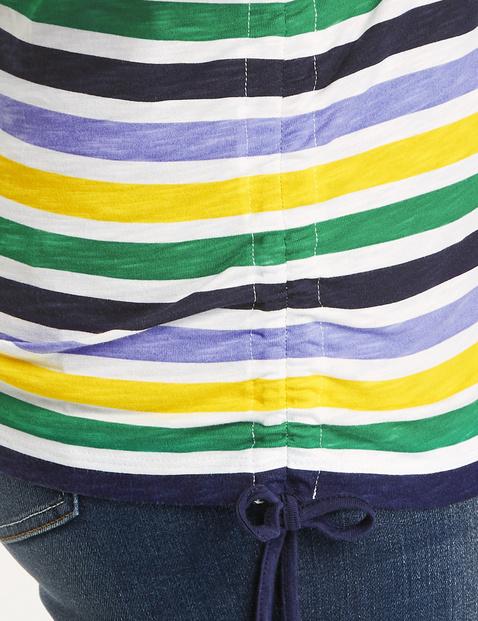 Ringel-Shirt mit Raffungen