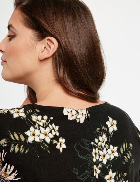Leicht ausgestelltes Kleid mit Blumen-Print