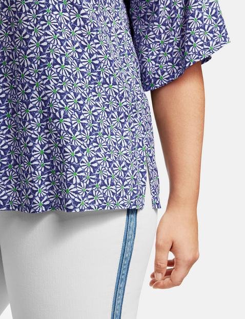 Bluse mit Blumen-Patch