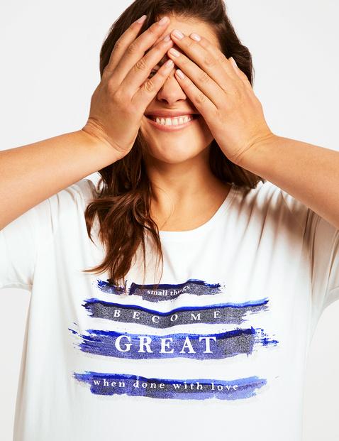 T-Shirt mit Statement-Print organic cotton