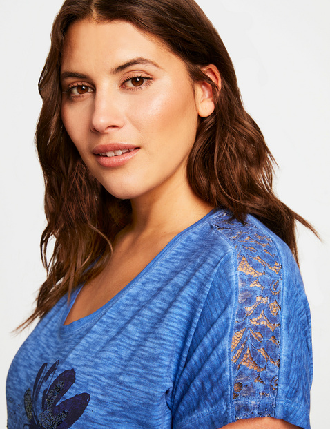 Shirt mit verziertem Front-Print