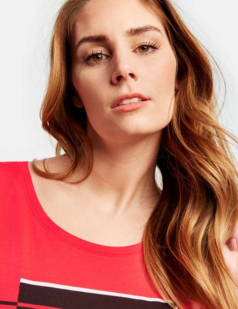 Shirt mit Front-Print und Tunnelzug organic cotton