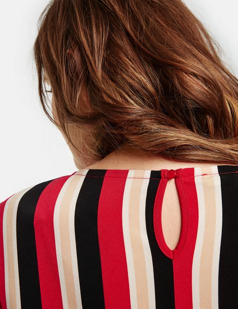 Jerseykleid im Streifen-Design