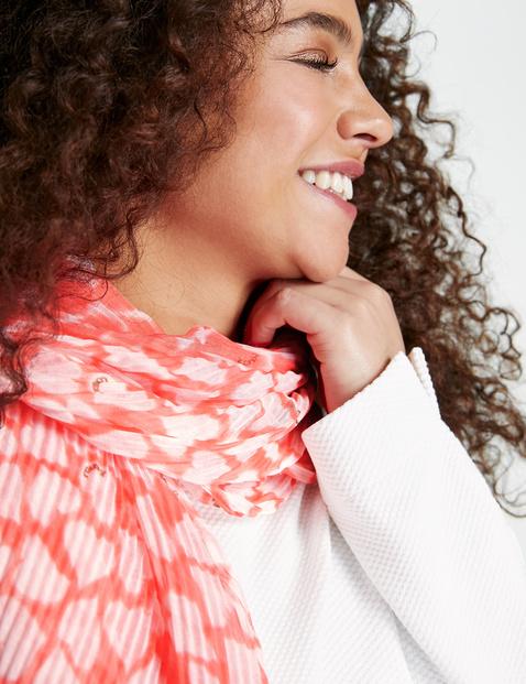 Plissée-Schal mit Herz-Print