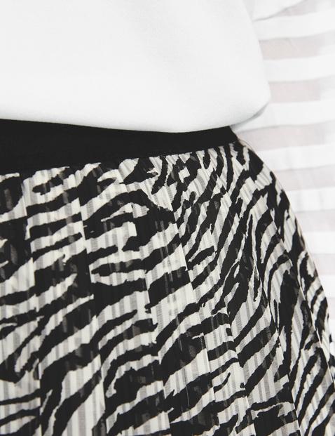 Plisowana spódnica ze zwierzęcym nadrukiem