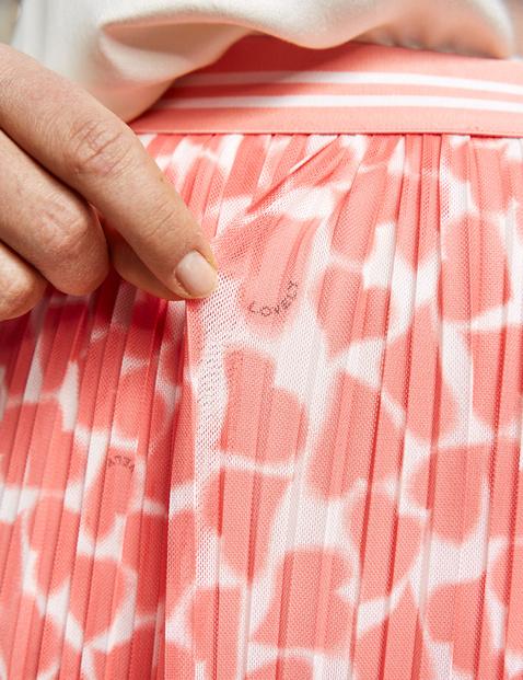 Midi skirt with plissé pleats