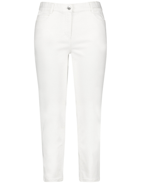 7/8-length stretch cotton trousers, Betty
