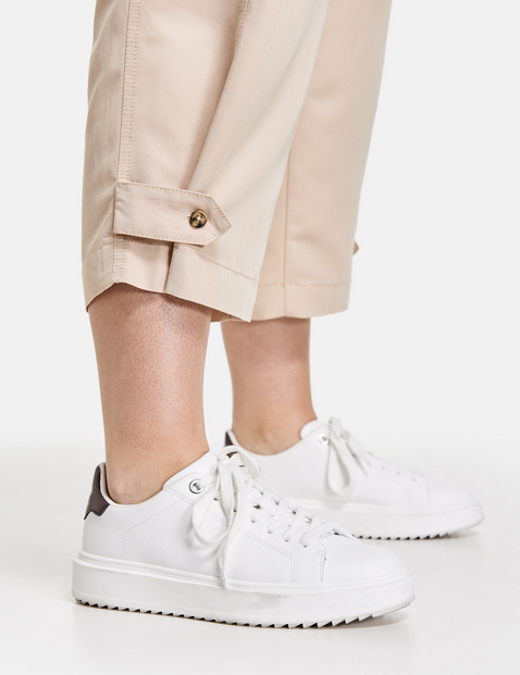 Sporty 3/4-length trousers with a wide leg, Lotta