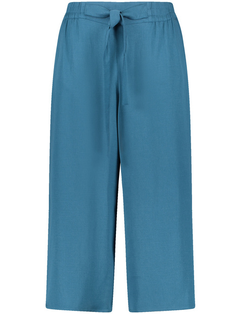 Lyocell-linen blend culottes