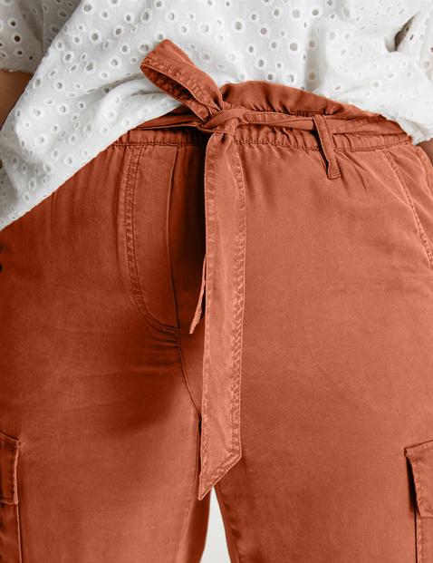 Spodnie cargo z lyocellu