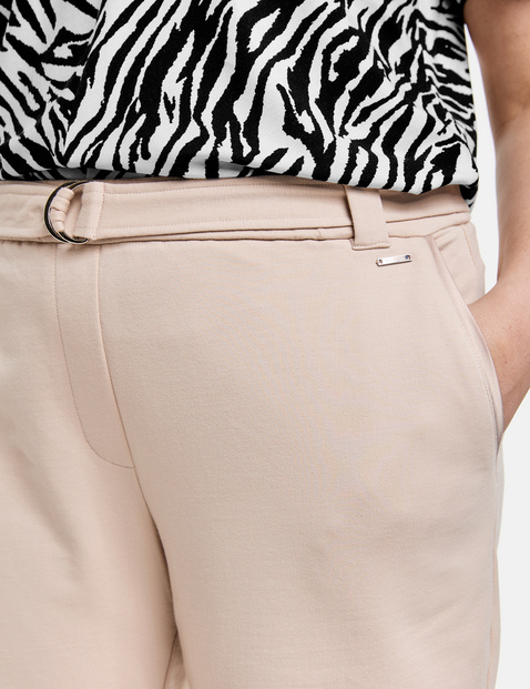 Cargo trousers with satin pockets
