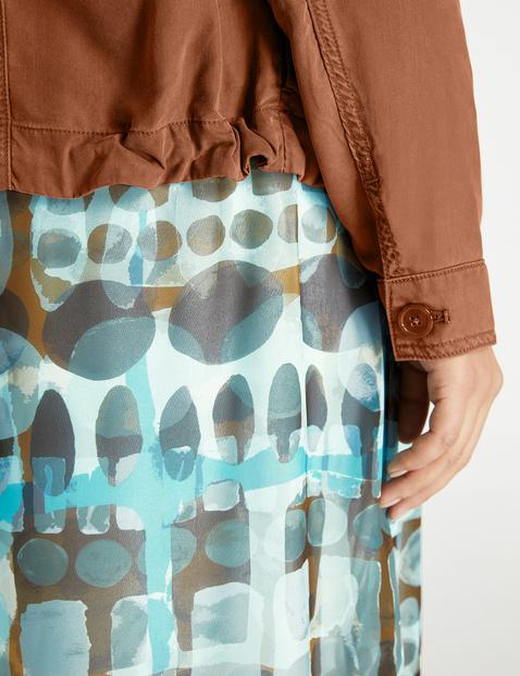 Denim jacket made of soft lyocell