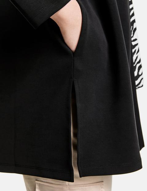Długa kurtka z materiału scuba