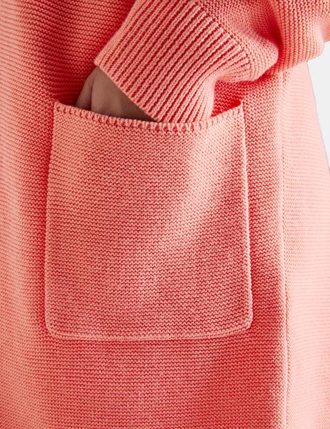 Strickjacke aus Baumwoll-Rippstrick