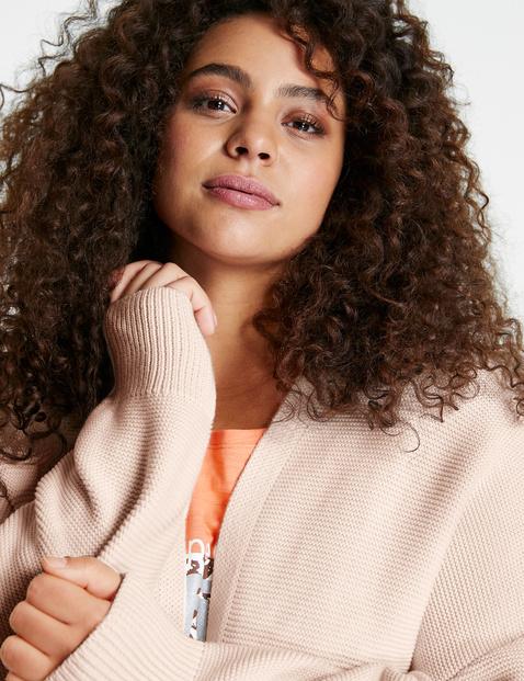Cotton rib knit cardigan