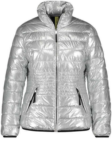 Quilted jacket in a metallic look