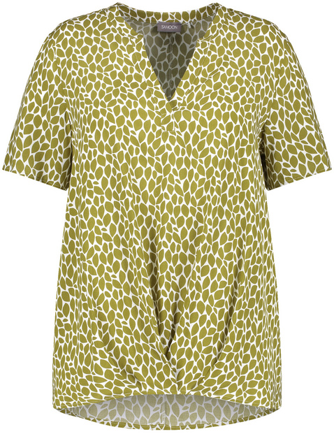 Casual blouse met korte mouwen EcoVero
