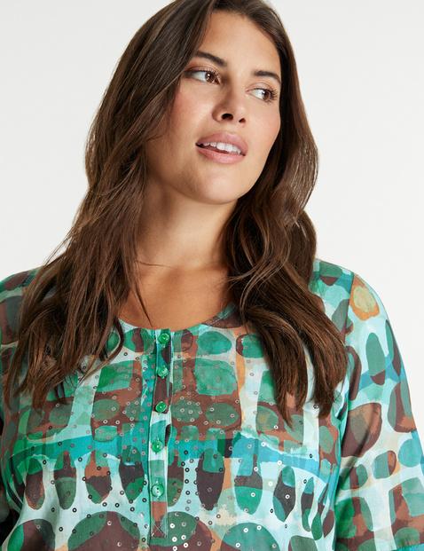 Flared tunic in organic cotton