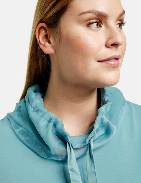 Sweatshirt met chiffondetail