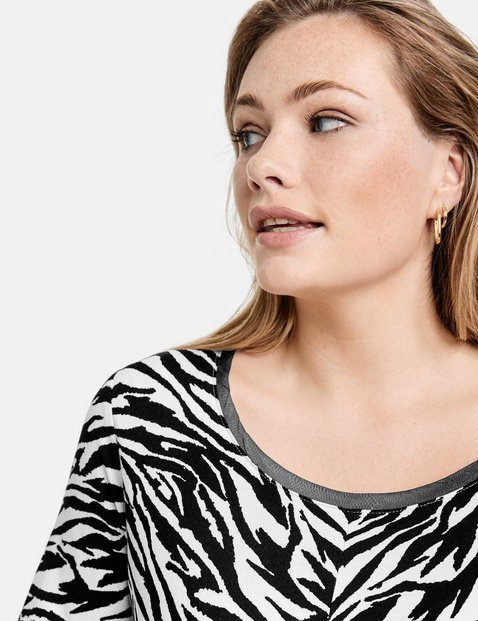 T-Shirt mit Zebra-Allover
