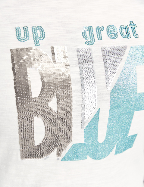 GOTS-certified organic cotton T-shirt with sequins
