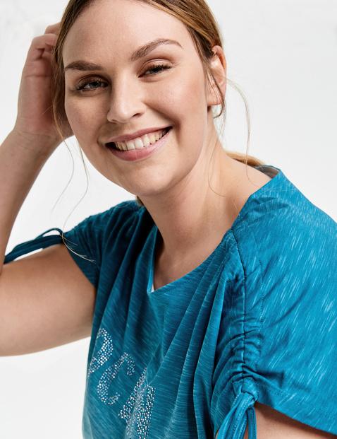 T-shirt z cieniowaniem, z bawełny ekologicznej