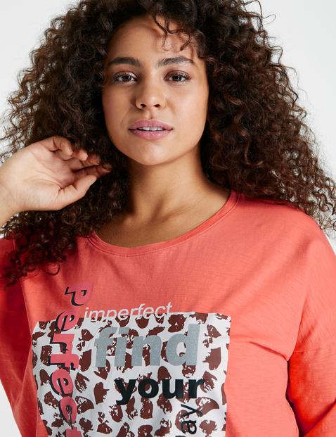 Casual shirt met halflange mouwen, van GOTS-gecertificeerd katoen