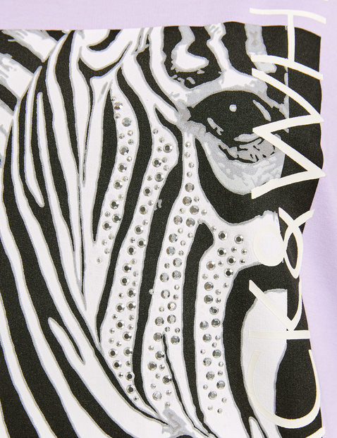 Sweatshirt mit Zebra-Print Oeko-Tex Standard 100