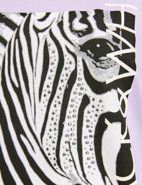 Sweatshirt with a zebra print