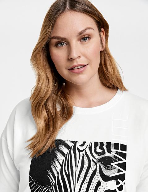 Sweatshirt met zebraprint
