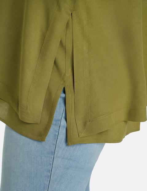 A-line short sleeve blouse