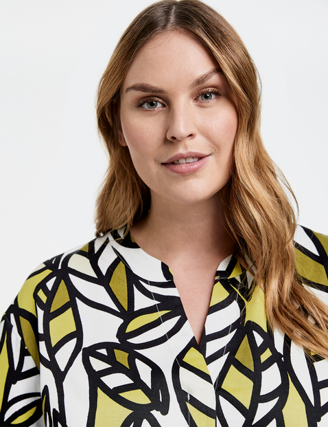 Summer dress in a lyocell-linen blend