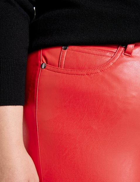 5-Pocket-Hose Betty in Leder-Optik