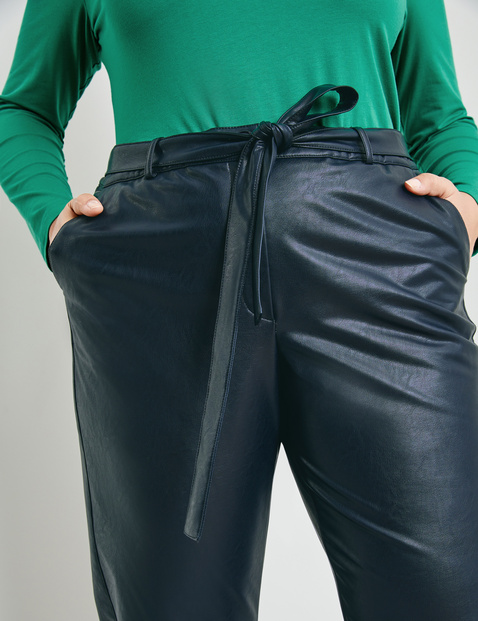 Greta tracksuit bottoms in a leather look