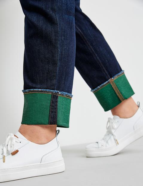 Betty jeans met gekleurde omgeslagen zoom