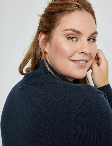 Open-fronted A-line cardigan
