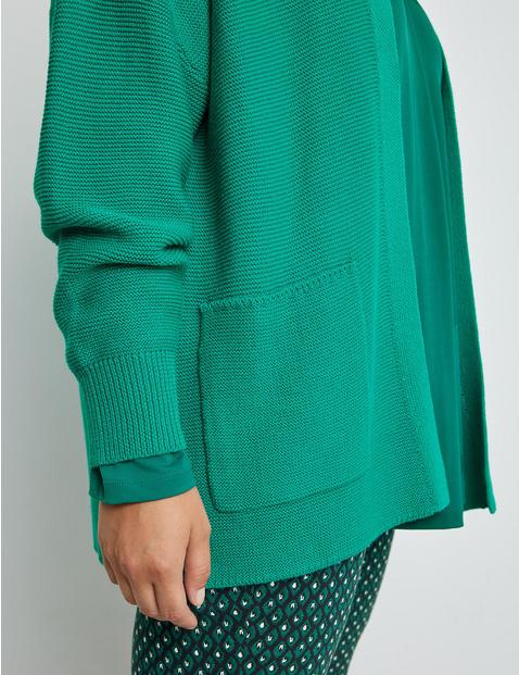 Open rib knit cardigan