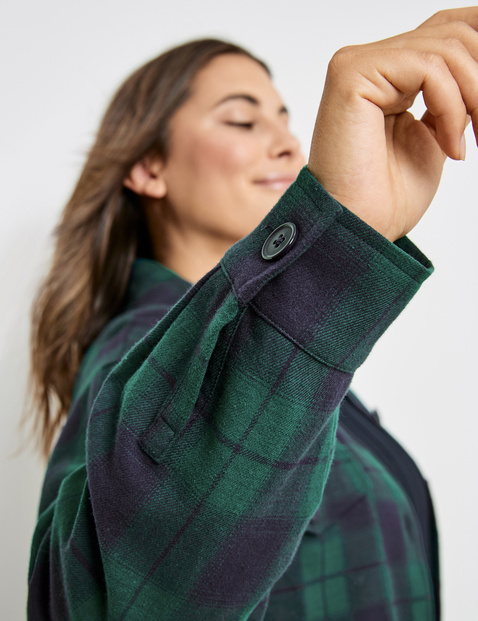 Check shirt made of soft flannel