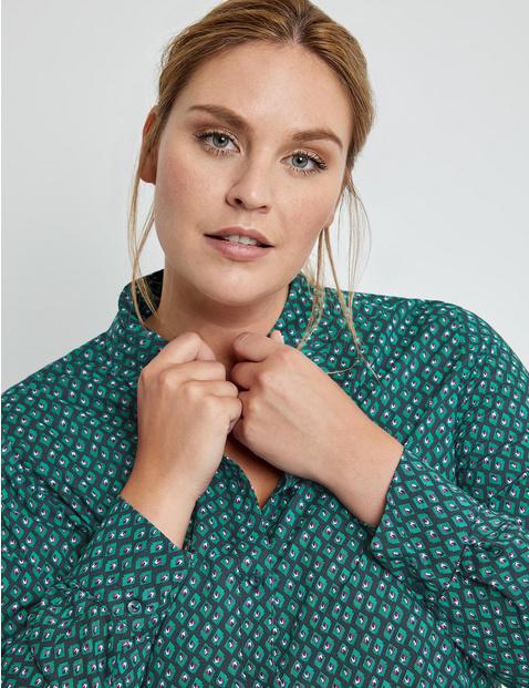 Loose shirt blouse made of EcoVero viscose