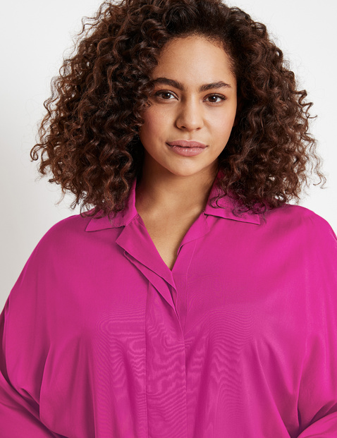 Blouse with wide, 3/4-length sleeves, EcoVero
